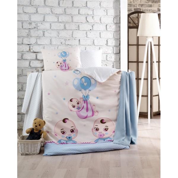 Kristal Bebek Nevresim Takımı - Babies Mavi