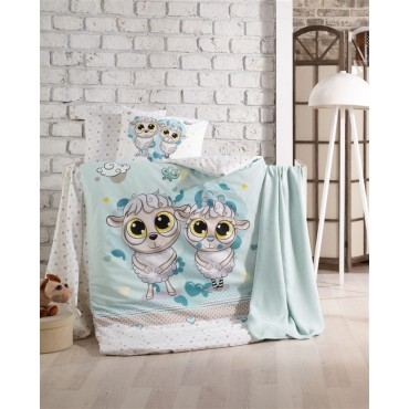 Kristal Bebek Nevresim Takımı - Happy Lamps Mavi