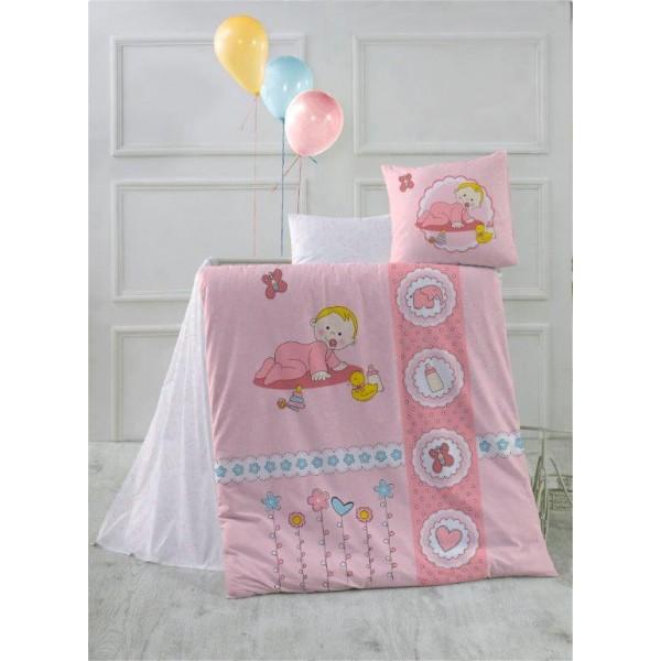 Kristal Bebek Uyku Seti Happy Baby Pembe