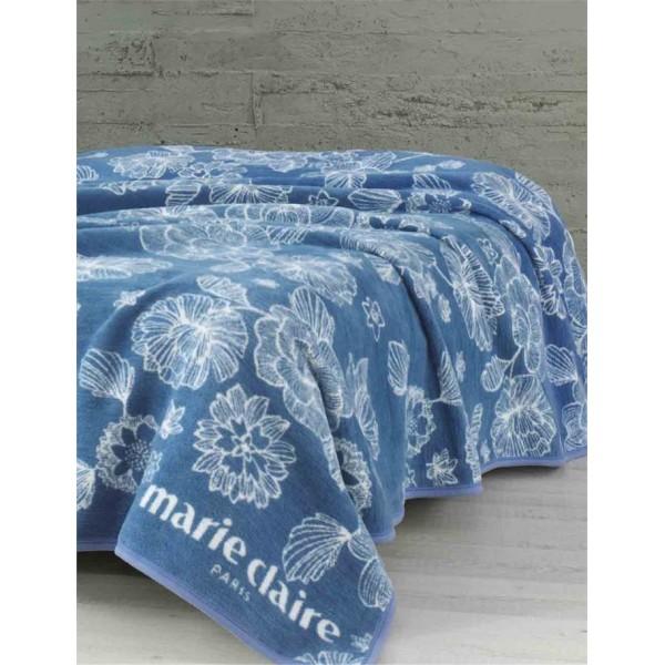 Marie Claire Çift Kişilik Battaniye - Pania Mavi