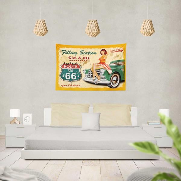 Marilyn Home Duvar Örtüsü 130x150 cm - Cars Girl