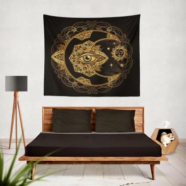 Marilyn Home Duvar Örtüsü 130x150 cm - Tribal Mandala Ay ve Göz