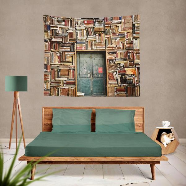 Marilyn Home Duvar Örtüsü 130x150 cm - Kitaplık ve Kapı