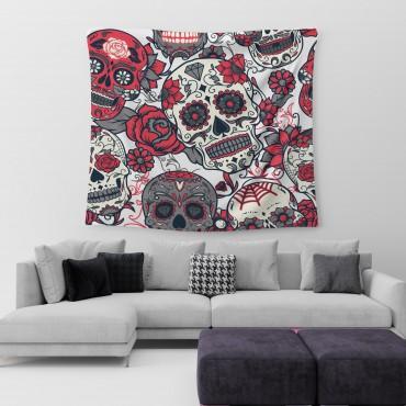 Marilyn Home Duvar Örtüsü 130x150 cm - Skull Kuru Kafa Gül