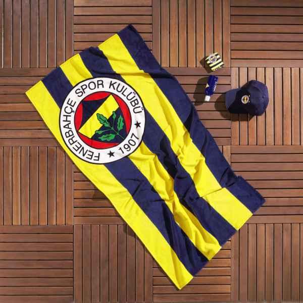 Taç Fenerbahçe Çubuklu Plaj Havlusu