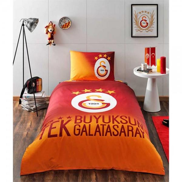 Taç Lisanslı Tek Kişilik Nevresim Takımı - 4. Yıldız Galatasaray
