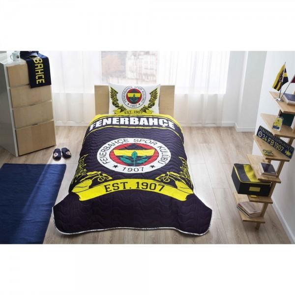 Taç Lisanslı Tek Kişilik Yatak Örtüsü - Fenerbahçe Logo
