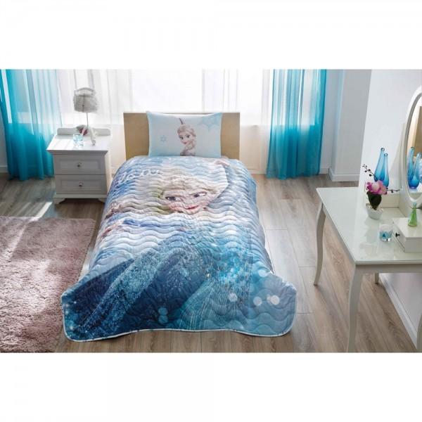 Taç Lisanslı Tek Kişilik Yatak Örtüsü - Frozen Gl
