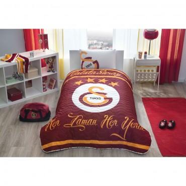 Taç Lisanslı Tek Kişilik Yatak Örtüsü - Galatasaray Logo