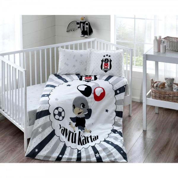 Taç Bebek Nevresim Takımı - Beşiktaş Baloon Baby
