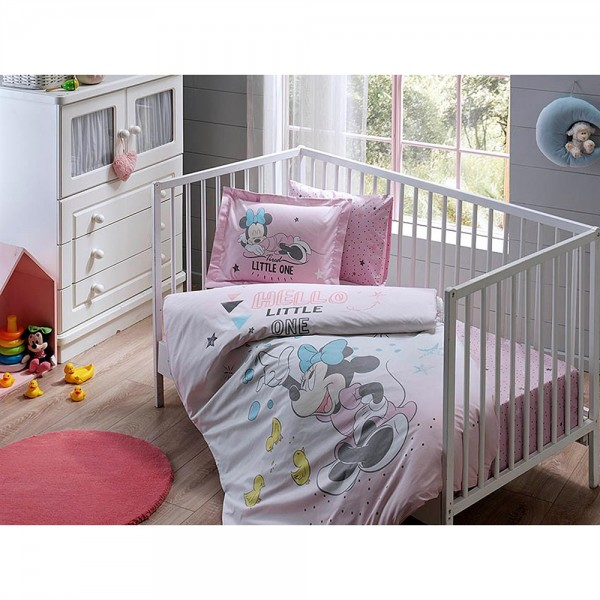 Taç Bebek Nevresim Takımı - Minnie Bubble Baby
