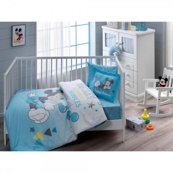 Taç Bebek Nevresim Takımı - Mickey Bubble Baby