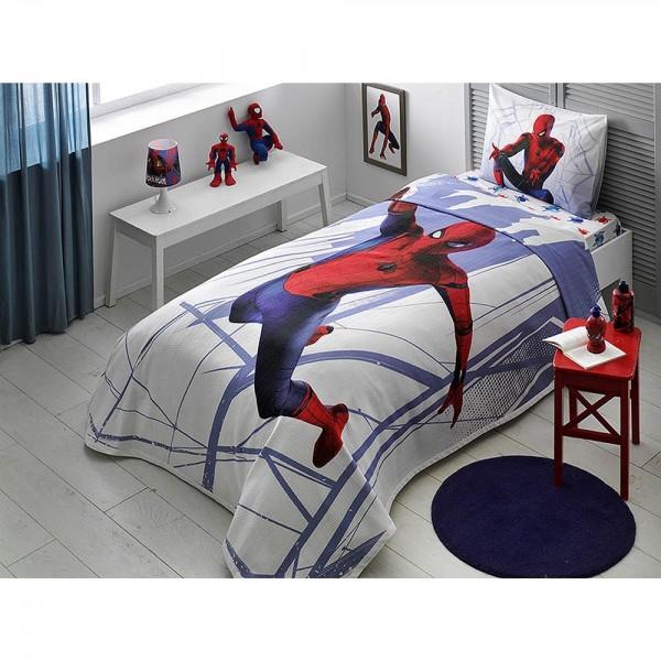 Taç Lisanslı Tek Kişilik Pike Takımı - Spiderman Homecoming