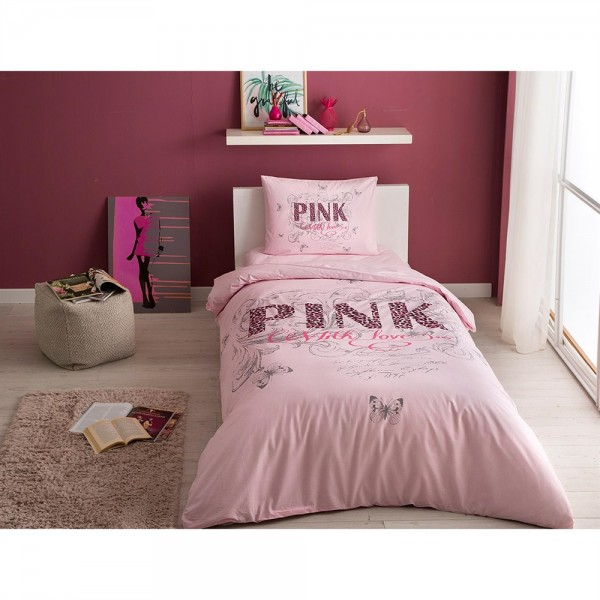 Taç Çift Kişilik Nevresim Takımı - Pink Pembe