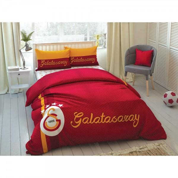 Taç Çift Kişilik Lisanslı Nevresim Takımı - Galatasaray Striped
