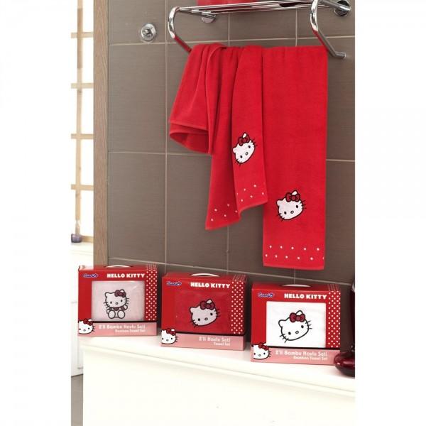 Hallo Kitty 2 Li Havlu Seti Kırmızı