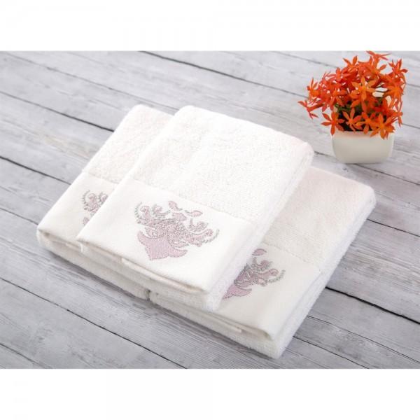 İrya ADORE Nakışlı Havlu Seti Beyaz 3 lü 30x50 cm