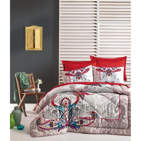 Cotton Box Saten Uyku Seti Çift Kişilik - Anita Bej