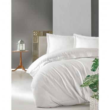 Cotton Box Elegant Saten Çift Kişilik Nevresim Takımı - Beyaz