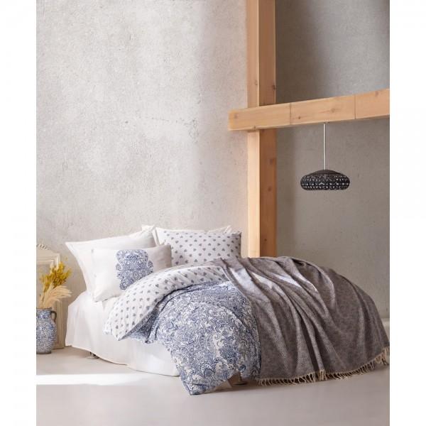 Cotton Box Bohem Nevresim Takımı+Yatak Örtüsü - Doris Petrol