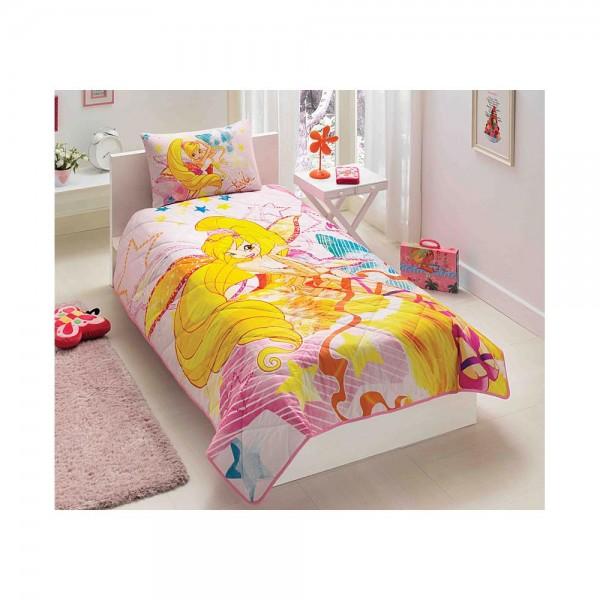 Taç Lisanslı Tek Kişilik Yatak Örtüsü - Winx Harmonix Stella