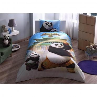 Taç Lisanslı Tek Kişilik Nevresim Takımı - Kung Fu Panda Movie
