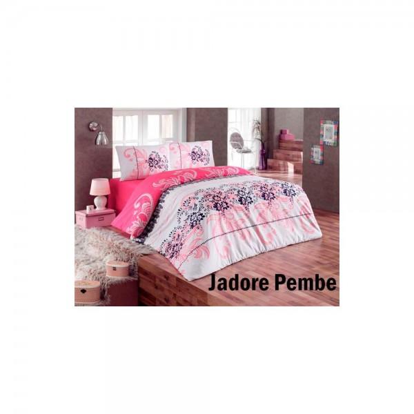 Taç Kristal Çift Kişilik Pike Takımı - Jadore Pembe