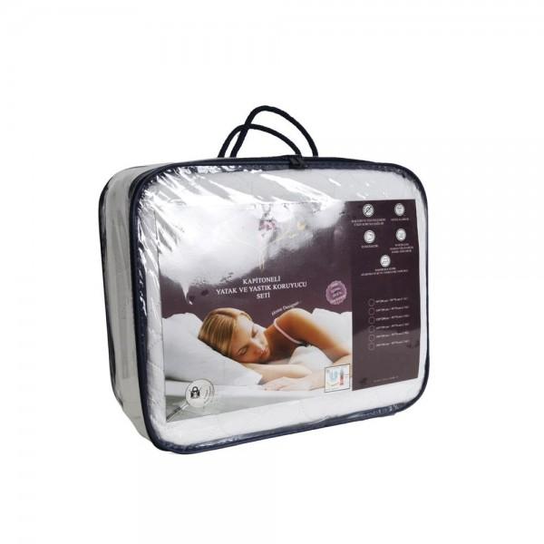 İrya KAPITONE Yatak + Yastık Koruyucu Set Tek Kişilik 120x200 cm + 50x