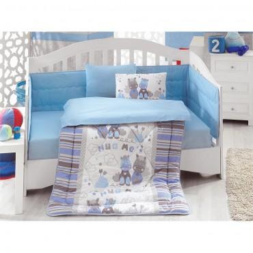 Cotton Box Ranforce Bebek Uyku Seti Midilli Mavi