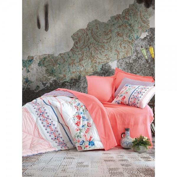 Cotton Box Çift Kişilik Ranforce Uyku Seti Elena Somon