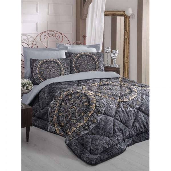 Cotton Box Saten Uyku Seti Çift Kişilik - Elenor Siyah