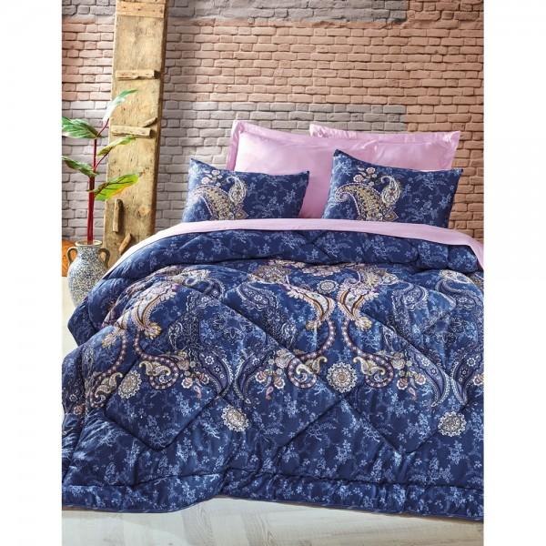Cotton Box Saten Uyku Seti Çift Kişilik - Elita Lila