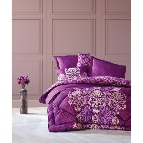 Cotton Box Saten Uyku Seti Çift Kişilik - Gilda Mürdüm