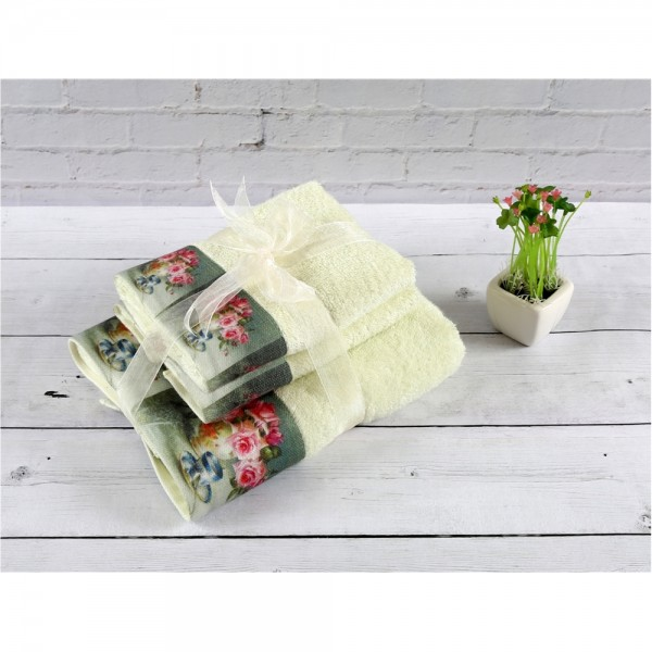İrya GÜLFEM 3 Prç Bambu Havlu Seti Mint