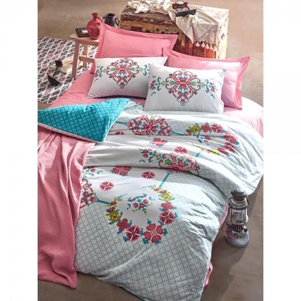 Cotton Box Alaturca Çift Kişilik Yatak Örtüsü Seti - Gülçehre