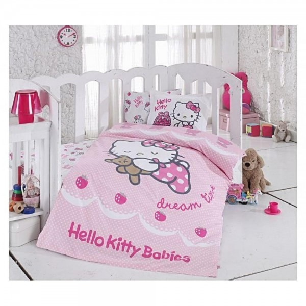 Hello Kitty Bebek Nevresim Takımı - Ribbon