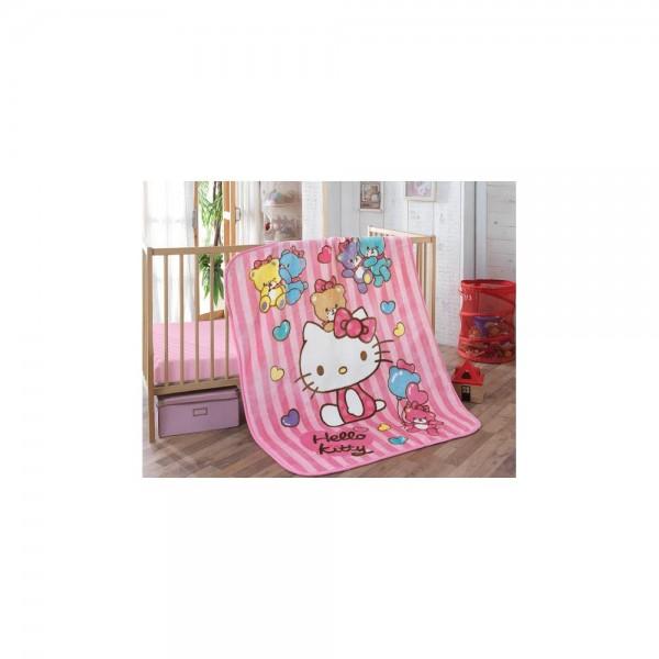 Hello Kitty Lisanslı Bebek Battaniye - Bear