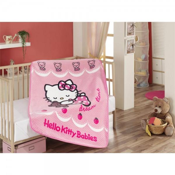 Hello Kitty Lisanslı Bebek Battaniye - Ribbon