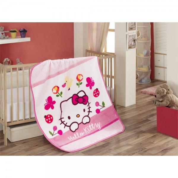 Hello Kitty Lisanslı Bebek Battaniye - Fancy
