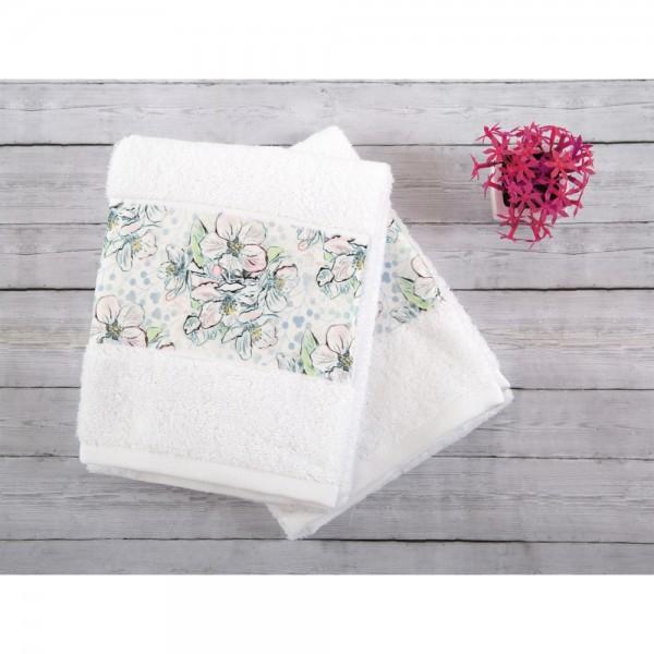 İrya JADE Nakışlı Havlu Seti Beyaz 2 li 50x90 cm