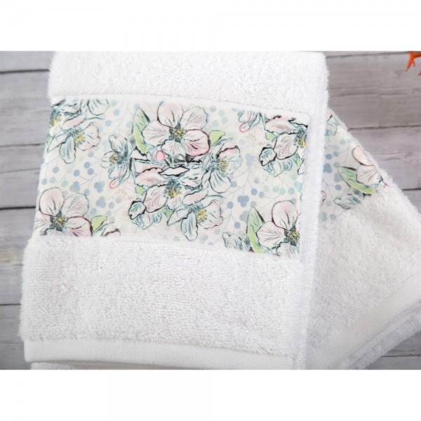 İrya JADE Nakışlı Havlu Seti Beyaz 3 lü 30x50 cm