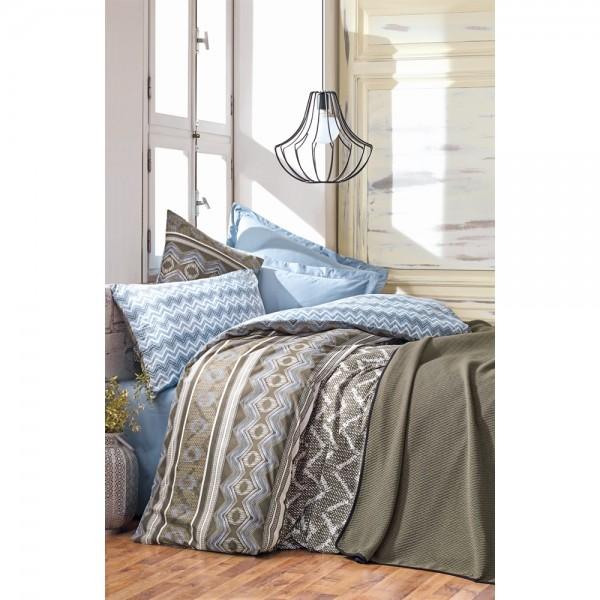 Cotton Box Minimal Tek Kişilik Yatak Örtüsü Takımı - Joy Mavi
