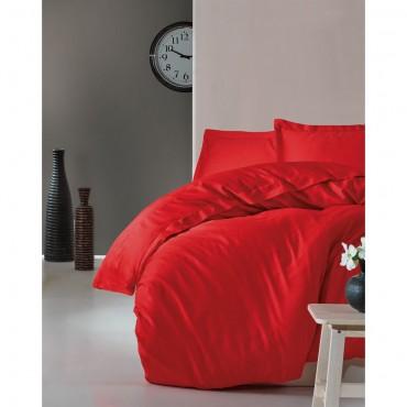Cotton Box Elegant Saten Çift Kişilik Nevresim Takımı - Kırmızı