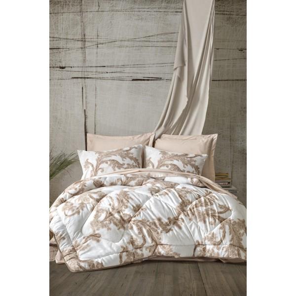 Cotton Box Saten Uyku Seti Çift Kişilik - Loren Bej