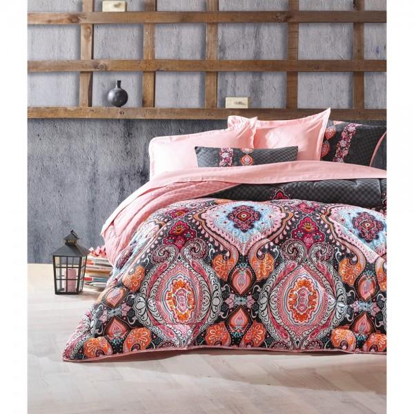 Cotton Box Saten Uyku Seti Çift Kişilik - Luisa Pudra