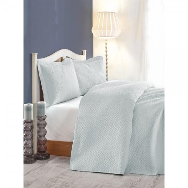 Cotton Box Daily Tek Kişilik Yatak Örtüsü Mavi