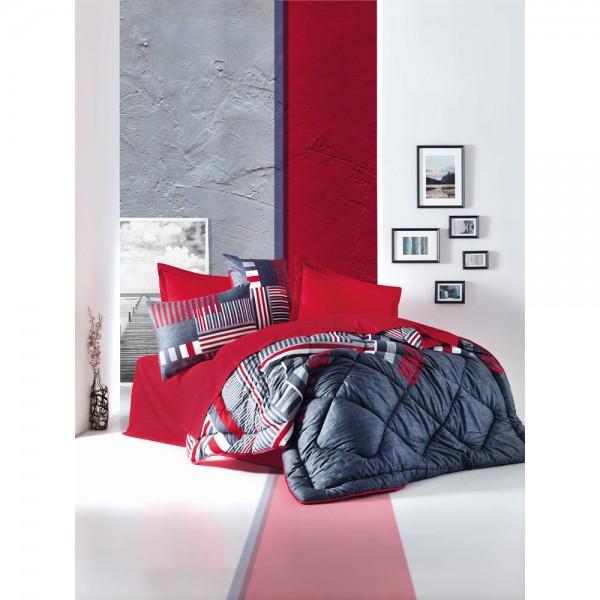 Cotton Box Saten Uyku Seti Çift Kişilik - Roxy Kırmızı