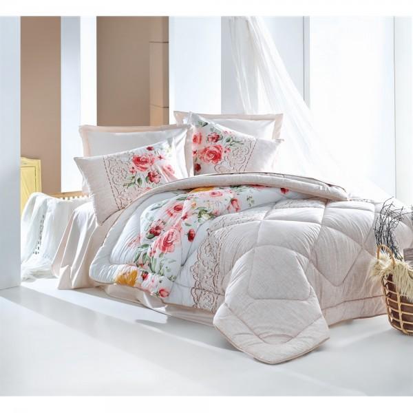 Cotton Box Çift Kişilik Ranforce Uyku Seti Sandy Bej